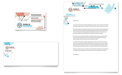 computer engineering business card letterhead template
