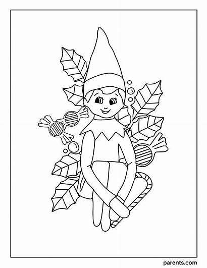 Elf Shelf Coloring Excited Printables Holiday Inspired
