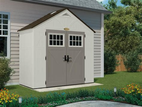 menards resin storage sheds suncast tremont 174 8 x 4 storage building at menards 174