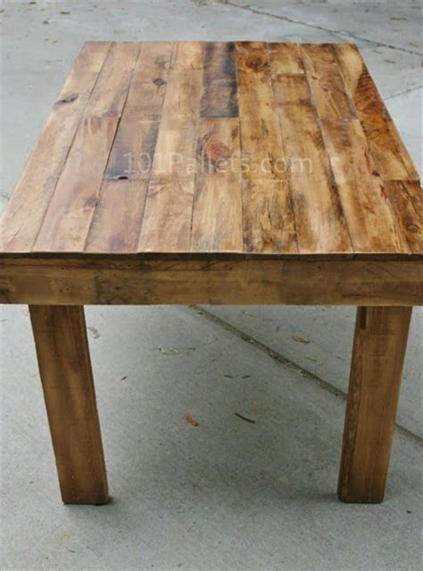 easy   pallet wood dining table pallet furniture