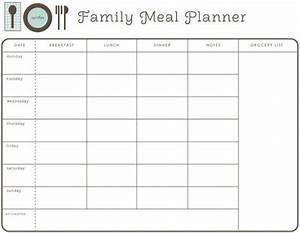 weekly family meal planner meal planning pinterest With family dinner menu template