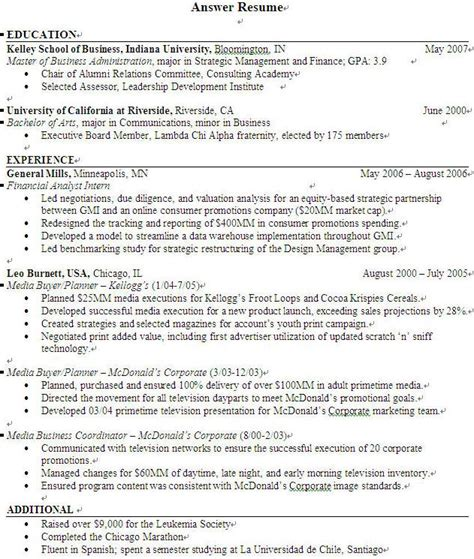 Objectives Resumes by Objectives For Resume Best Template Collection