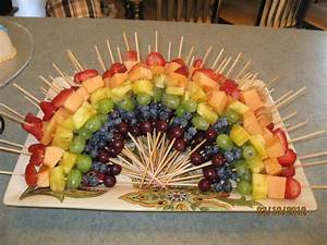 rainbow fruit kabobs from olivia39s baby shower 1st With lesbian wedding shower ideas