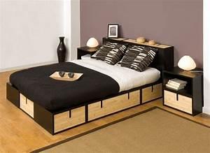 espace loggia lit mezzanine podium brick bambou ferme sofa With canapé design contemporain