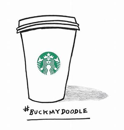 Cup Starbucks Coffee Tag Template Doodlers Own