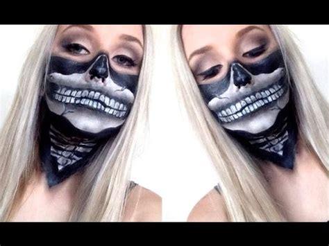 skull bandana face paint tutorial super easy  halloween youtube