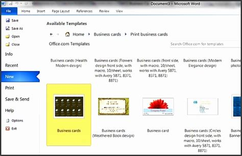 free template business card microsoft word 8 free business card templates for word 2007