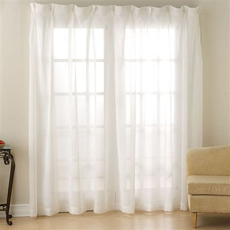 Monte Carlo Pinch Pleat Voile Patio Panel   Boscov's