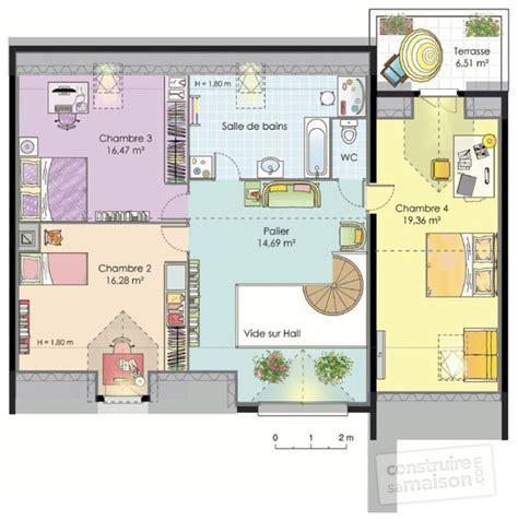 plan maison etage 4 chambres plan maison etage 4 chambres plan maison ossature bois