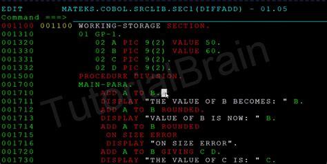 cobol arithmetic operations tutorial tutorialbrain