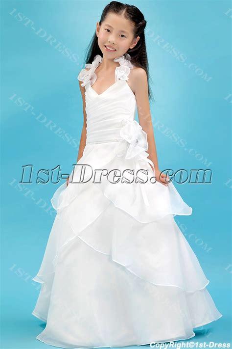ivory organza beautiful mini bridal gowns  girlsst