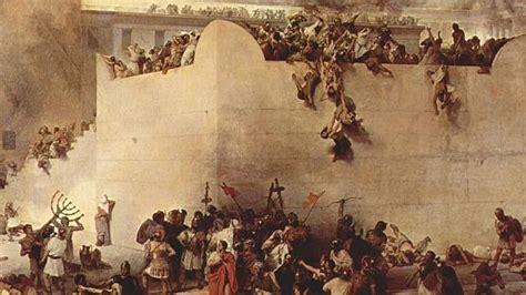 cuadro  representa el asedio  destruccion de jerusalen