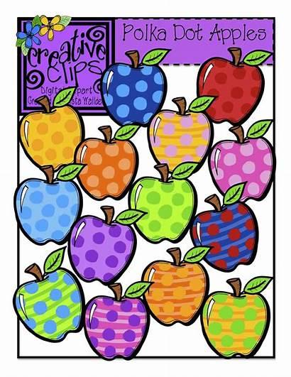 Dot Clipart Polka Rainbow Apple Clip Creative