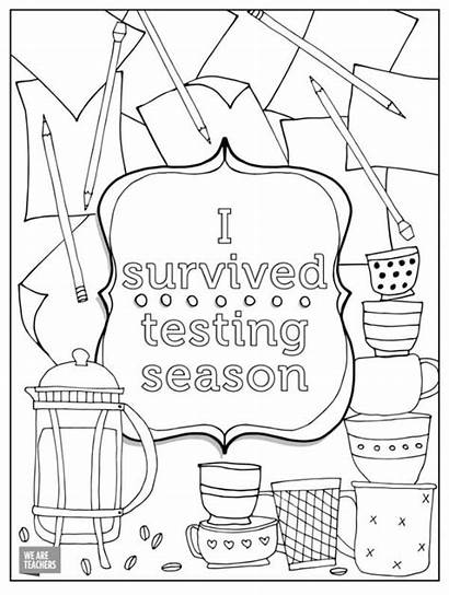 Coloring Pages Teacher Teachers Adult Printables Stressed