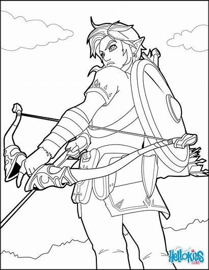 Zelda Breath Coloring Wild Legend Link Colorear