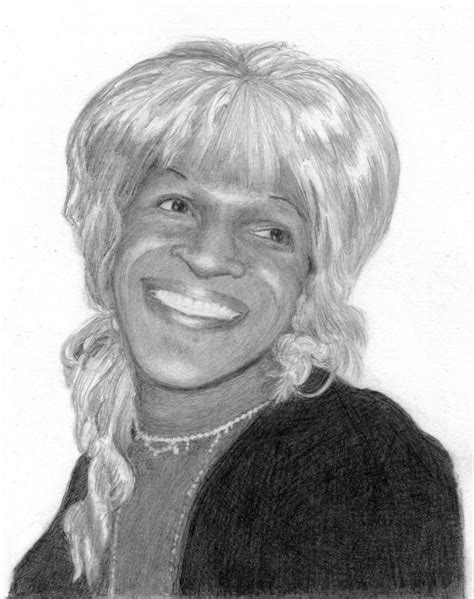 Marsha P. Johnson, based on an Andy Warhol photograph from ...