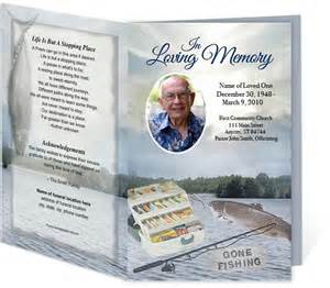 Fishing Theme Funeral Program Templates