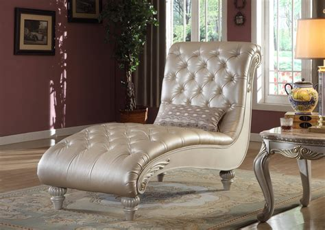 meridian  marquee pearl white living room chaise