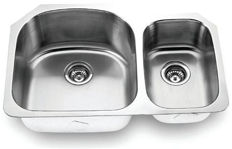 Fontaine Stainless Steel Offset Double Bowl Undermount