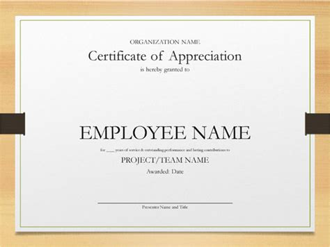 printable years  service certificate templates word