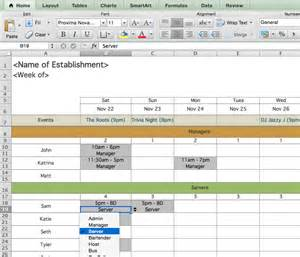 Excel Spreadsheet For Scheduling Employee Shifts by Restaurant Employee Scheduling Template For Excel 7shifts