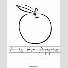 A Is For Apple Worksheet  Twisty Noodle