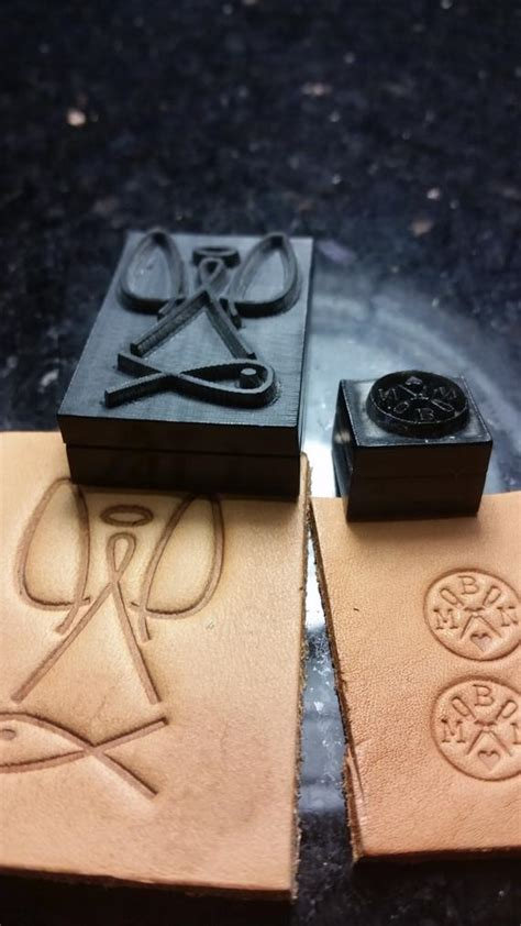 custom leather embossing stamp  thelasermill  etsy