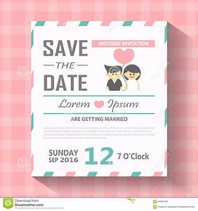 wedding invitation card template vector illustration With wedding invitation animation template