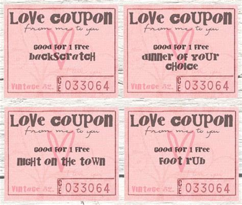printables valentine coupon books southern savers
