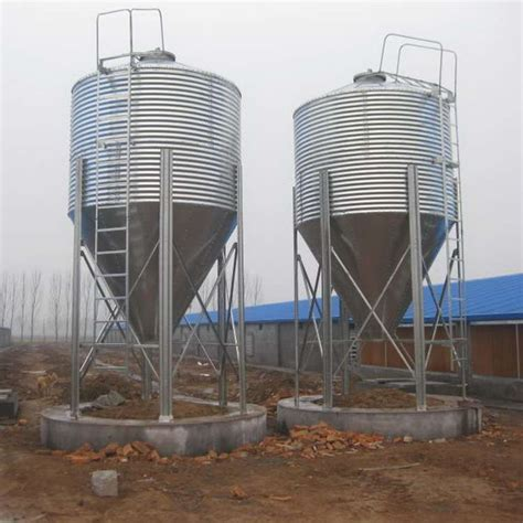 10 100ton automatic galvanized cone bottom poultry feed silo for feed pellet mill buy poultry