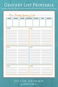 free grocery list printables 3 colors 4 real