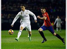 Osasuna 13 Real Madrid Holding on to the lead