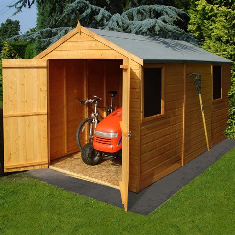 Small Sheds B Q by 12x6 Atlas Apex Shiplap Wooden Shed Departments Diy At B Q
