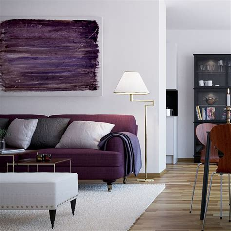 Grey And Purple Living Room Furniture by Best 25 Purple Sofa Ideas On Purple Living