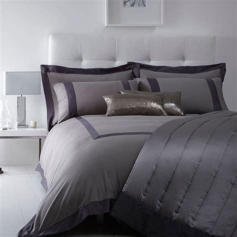 J By Jasper Conran Grey 'mayfair' Bed Linen From Debenhams