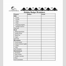 Budget Spreadsheet Template
