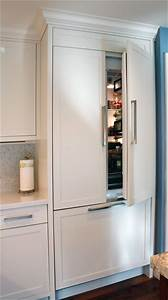 best 25 built in refrigerator ideas on pinterest corner With kitchen colors with white cabinets with sticker press machine