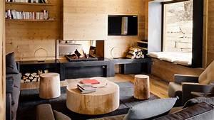 Decoration Interieur Chalet Bois : chalet en bois am nagement du salon de votre actualit ~ Zukunftsfamilie.com Idées de Décoration