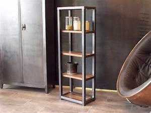 Etagere Style Industrielle : meuble bois metal meuble de style industriel bois et acier sur mesure micheli design ~ Teatrodelosmanantiales.com Idées de Décoration