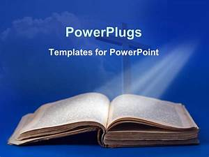 powerpoint template an old bible and cross for religious With biblical powerpoint templates