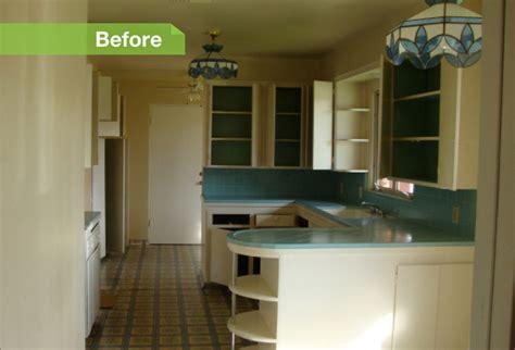refrigerator kitchen cabinets 24 dramatic kitchen makeovers 1813