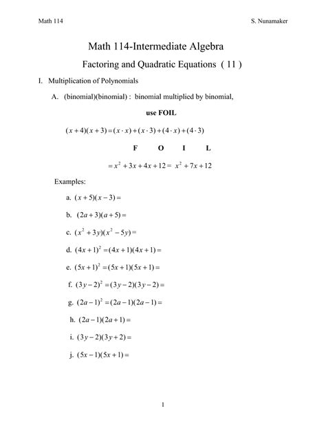 13 best images of foil method worksheet foil math
