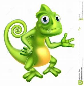 Cartoon Chameleon Stock Illustration - Image: 67200343