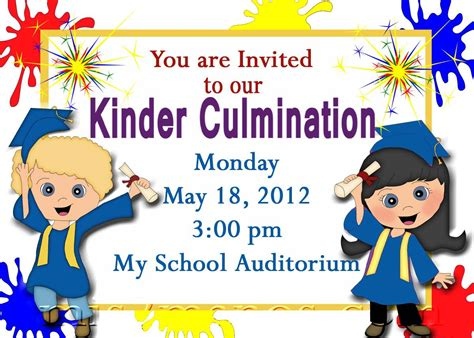 preschool graduation invitation preschool graduation invitations printable invites 86684