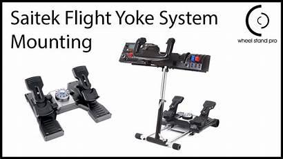 Saitek Stand Pro Wheel Yoke Flight System