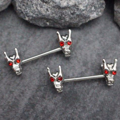 tribal dragon nipple rings bridge piercing jewelry