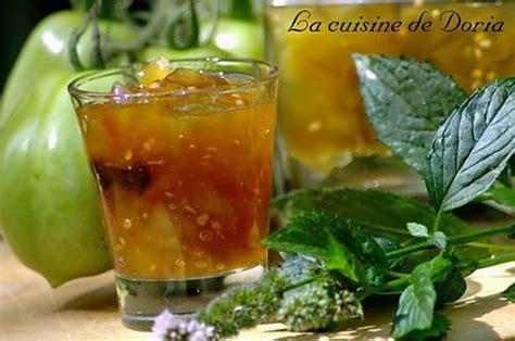 cuisine tomates vertes recette de confiture de tomates vertes et menthe