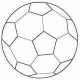 Coloring Soccer Ball Printable sketch template
