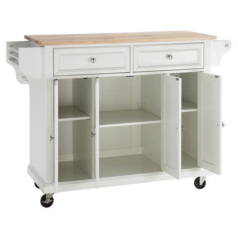 white kitchen cart island wood top kitchen cart island casters white