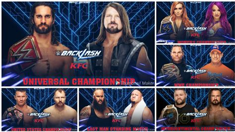 Maybe you would like to learn more about one of these? WWE BACKLASH 2019 DREAM MATCH CARD ! - YouTube
